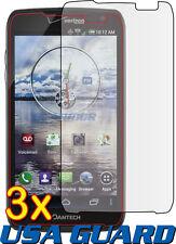 3x Pantech Perception R930L Clear LCD Screen Protector Guard Shield Cover Film