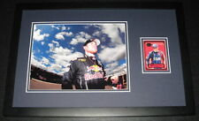 Brian Vickers Signed Framed 11x17 Photo Display