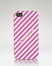 JUICY COUTURE PINK CERISE DIAGONAL IPHONE PHONE CASE ORG. $28.00 BNWT MINT