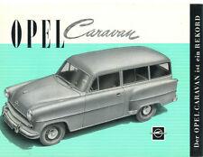 Opel   Folder  Caravan  Circa 1955