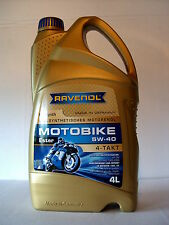 Ravenol ESTER MotoBike 4t Motocicleta Aceite de motor 5w40 4l