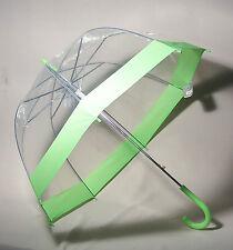 Regenschirm durchsichtig/transparent Glockenschirm grün Automatik