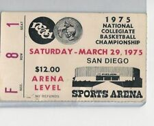 1975 NCAA Final Four Semi Finals Ticket Stub
