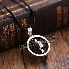 New Gift Unisex's Men Black Silver Stainless Steel Cross Pendant Necklace Chain