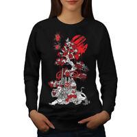 Wellcoda Japanese Knight Fantasy Womens Sweatshirt, Japan Casual Pullover Jumper