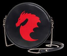 Alchemy Gótico Bolso de Mano- Dragón- Fantasía Gótica Redondo Bolso Mujer