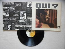 "LP CHARLES AZNAVOUR ""Qui ?"" BARCLAY 80 191 FRANCE §"