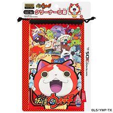 Yo-kai Watch NINTENDO 3DS XL Cleaner drawstring bag Red F/S w/Tracking#