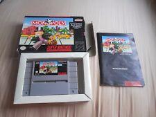 MONOPOLY Super Nintendo SNES Complete w/ Box + manual
