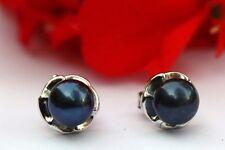 YR30S Zucht Süßwasser Perlen Schmuck Ohrringe Ohrstecker Ohrhänger 925 Silber