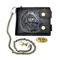 """Herren Geldbörse mit Irischem/Keltischem Symbol namens ,,Claddagh"""" mit RFID"""