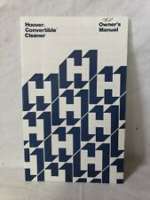 VINTAGE HOOVER CONVERTIBLE TOP FILL VACUUM CLEANER OWNERS 1977 MANUAL BLUE T