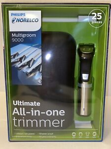 Philips Norelco Multigroom 9000 Ultimate All In One Trimmer Used Wet Dry Use