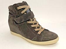 Paul Green Wildleder Boots Größe 37,5 (UK 4,5) Grau Innenliegender Keilabsatz