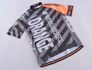 Forte Sportswear Pro Cycling Jersey Men's XXL Reflective Bands S/S Big Orange