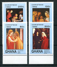 1992 - LOTTO/19503 - GHANA - NATALE 4v. - NUOVI