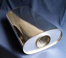 ": 89 mm diámetro (3 ½ "") 10x5 Oval X 18"" de largo Universal De Acero Inoxidable De Escape Silenciador"