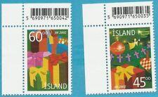 Island aus 2002 ** postfrisch MiNr.1024-1025 - Weihnachten!