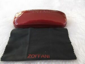 Used - Zoffani red glasses / sunglasses case and cloth - proceeds to charity
