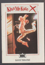 Kiss Me Kate Program RSC Savoy Theatre 1988 Tim Flavin James Smillie