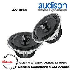 """Audison AV X6.5 - 6.5"""" 16.5cm VOCE 2-Way Coaxial Speakers 400 Watts Total Power"""
