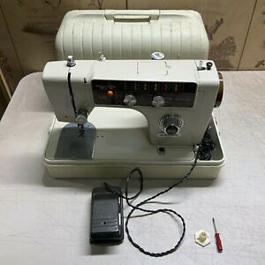 Vintage Morse (Model 8700) Sewing Machine With Carrying Case