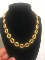 Ravishing Gold Tone Circle Link Anne Klein Toggle Necklace