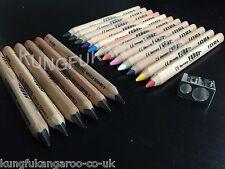 6 + 12 Lyra Ferby Grueso Triangular Jumbo lápices y lápiz Crayones Niños Escuela