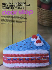 CROCHET PATTERN Slice of Cake Door Stop Shabby Chic Decoration Doorstop PATTERN