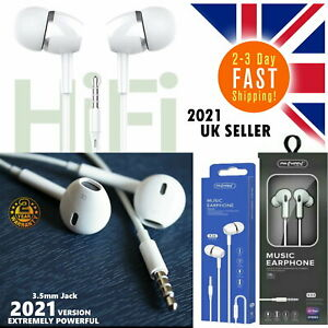 In Ear Earphones Headphones Loud Microphone Bass Earbuds Sports Gym All Mobile
