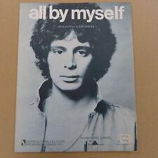 songsheet ALL BY MYSELF Eric Carmen 1976