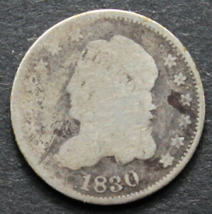 1830 Capped Bust Half Dime - Rough but Real - AG/Cull Condition
