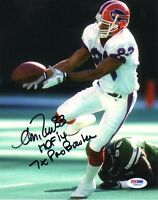 ANDRE REED SIGNED AUTOGRAPHED 8x10 PHOTO + HOF 14 + 7 x PRO BOWLER PSA/DNA