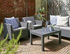 Allibert Lounge-Garten Set Chicago  4tlg, graphit/cool grey