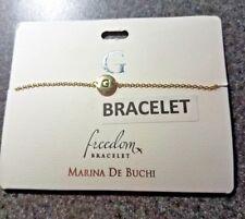 G INITIAL Freedom Bracelet by Marina De Buchi goldtone personalized BRACELET
