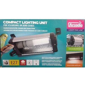 Arcadia Kompaktleuchte mit Reflektor für Vögel und Reptilien für Bird Lamp E27