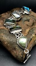 MODERN LABRADORITE BRACELET set in .925 STERLING SILVER with FREE SHIPPING!!!