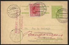 Yugoslavia covers 1926 uprated PC Karlovac redirected to Bandjar-Negara