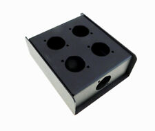 """Steel Project  Box  4 1/2"""" x 3-3/4"""""""" x 1 5/8"""" Pre-Punched for 5 """"D"""" Series XLR's"""