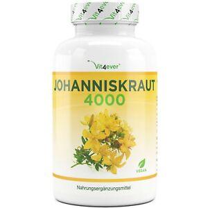 Johanniskraut-4000 180 Kapseln (vegan) a 2000mg (8:1) - Hochdosiert: Hypericin
