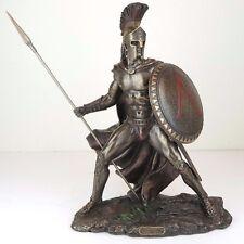 """Leonidas Greek Spartan Warrior King Bronze Figurine Miniature Statue 13""""H New"""