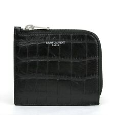 37feb0595c Saint Laurent Ysl Uomo Nero pelle Coccodrillo Impronta Card Custodia 396935  1000