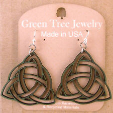 Trinity Knots Celtic Kelly Laser Cut Woo Earrings Green Tree COMBINED SHIPPING