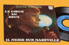 """JOHNNY HALLIDAY 7"""" LE COEUR EN DEUX ORIG FRANCE 1977 EX"""