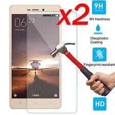 "2Pcs 9H+ Tempered Glass Screen Protector For Xiaomi Redmi 3 / 3S / 3X / 3 Pro 5"""