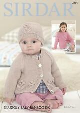 Sirdar 4785 Knitting Pattern Cardigan and Hat in Snuggly Baby Bamboo DK
