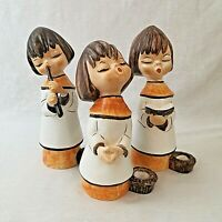Set of Three Large Goebel Hummell Christmas Choir Boys Candlesticks Vintage