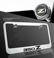 For Nissan 350Z Z33 Fairlady Z Chrome Cast Zinc Metal License Plate Frame Cap