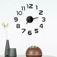 Modern Diy Large Wall Clock 3d Wall Sticker Frameless Watch Home Room Decor #3