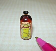 Miniature Single Liquor Bottle For the DOLLHOUSE Bar #1, 1:12 Scale Miniatures